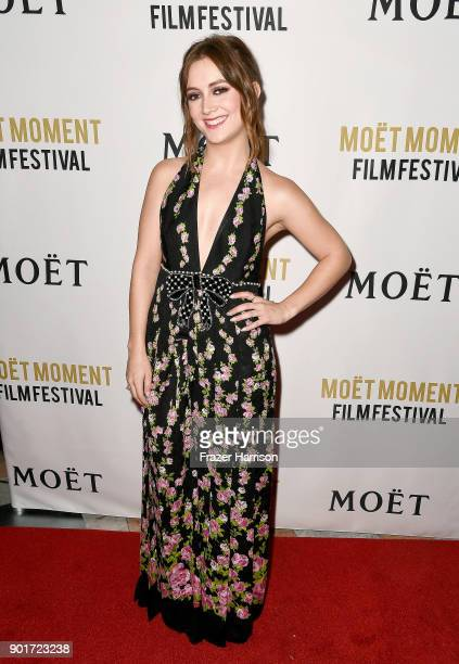 Actress Billie Lourd attends Moet Chandon Celebrates 3rd Annual Moet Moment Film Festival and Kick Off of Golden Globes Week at Poppy on January 5...