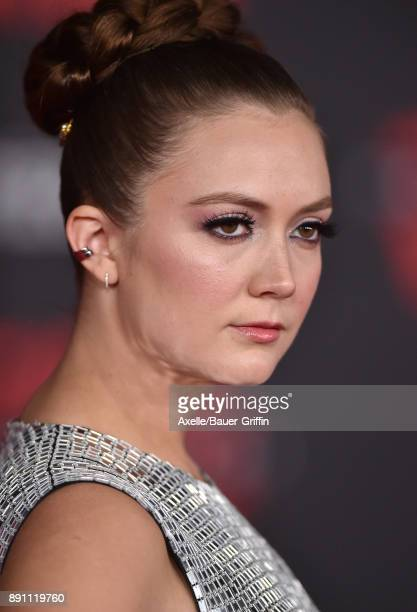Actress Billie Lourd attends the Los Angeles premiere of 'Star Wars The Last Jedi' at The Shrine Auditorium on December 9 2017 in Los Angeles...
