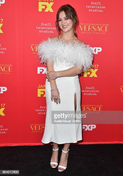 Actress Billie Lourd attends the Los Angeles Premiere of 'The Assassination of Gianni Versace American Crime Story' at ArcLight Hollywood on January...