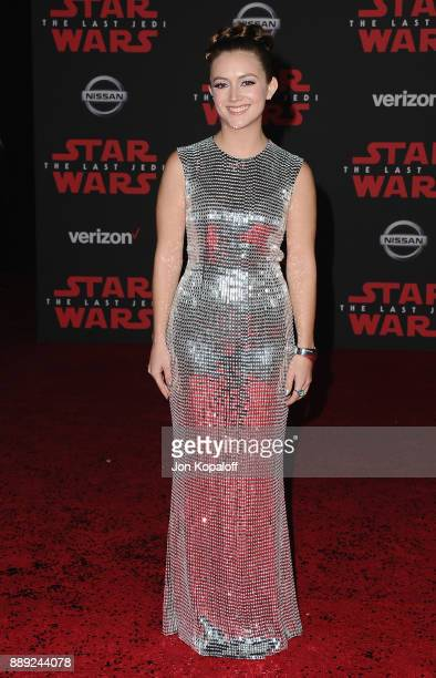 Actress Billie Lourd attends the Los Angeles Premiere 'Star Wars The Last Jedi' at The Shrine Auditorium on December 9 2017 in Los Angeles California