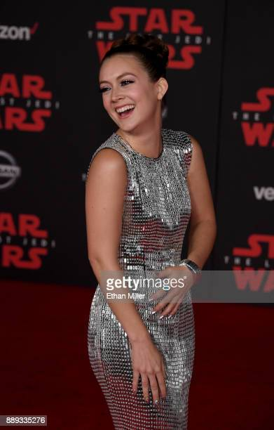 Actress Billie Lourd attends the premiere of Disney Pictures and Lucasfilm's 'Star Wars The Last Jedi' at The Shrine Auditorium on December 9 2017 in...