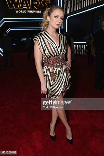 Actress Billie Lourd attends the Premiere of Walt Disney Pictures and Lucasfilm's Star Wars The Force Awakens on December 14 2015 in Hollywood...