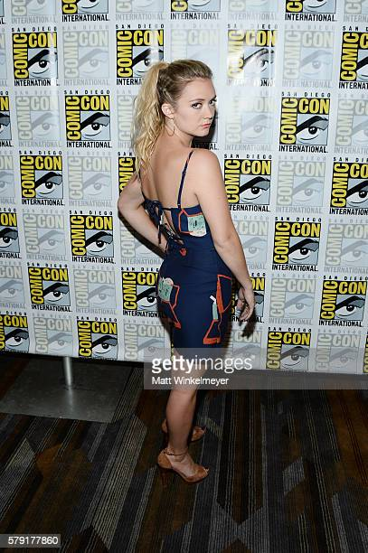 Actress Billie Lourd attends the 'Scream Queens' press line during ComicCon International at Hilton Bayfront on July 22 2016 in San Diego California