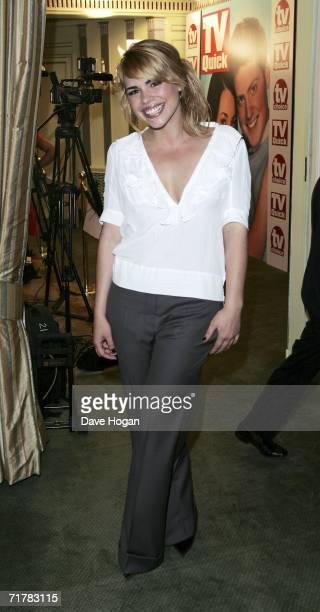 Actress Billie Piper arrives at the TV Quick and TV Choice Awards at the Dorchester Hotel Park Lane on September 4 2006 in London England The annual...