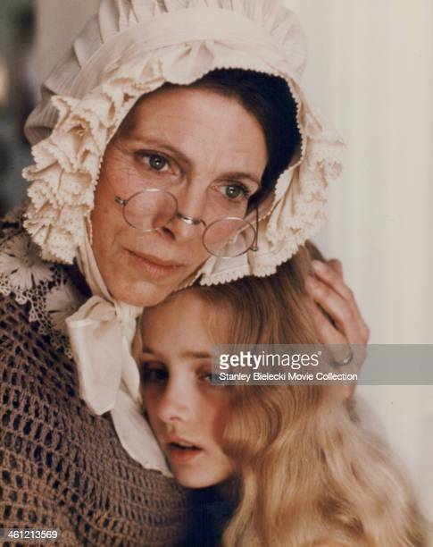 Actress Billie Whitelaw with childactress Samantha Gates in a scene from the film 'The Water Babies' 1978