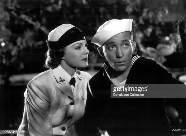 Actress Bing Crosby and Betty Hutton in a scene from the movie The Big Broadcast