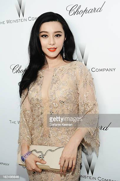 Actress Bingbing Fan attends The Weinstein Company Academy Award Party hosted by Chopard at Soho House on February 23 2013 in West Hollywood...