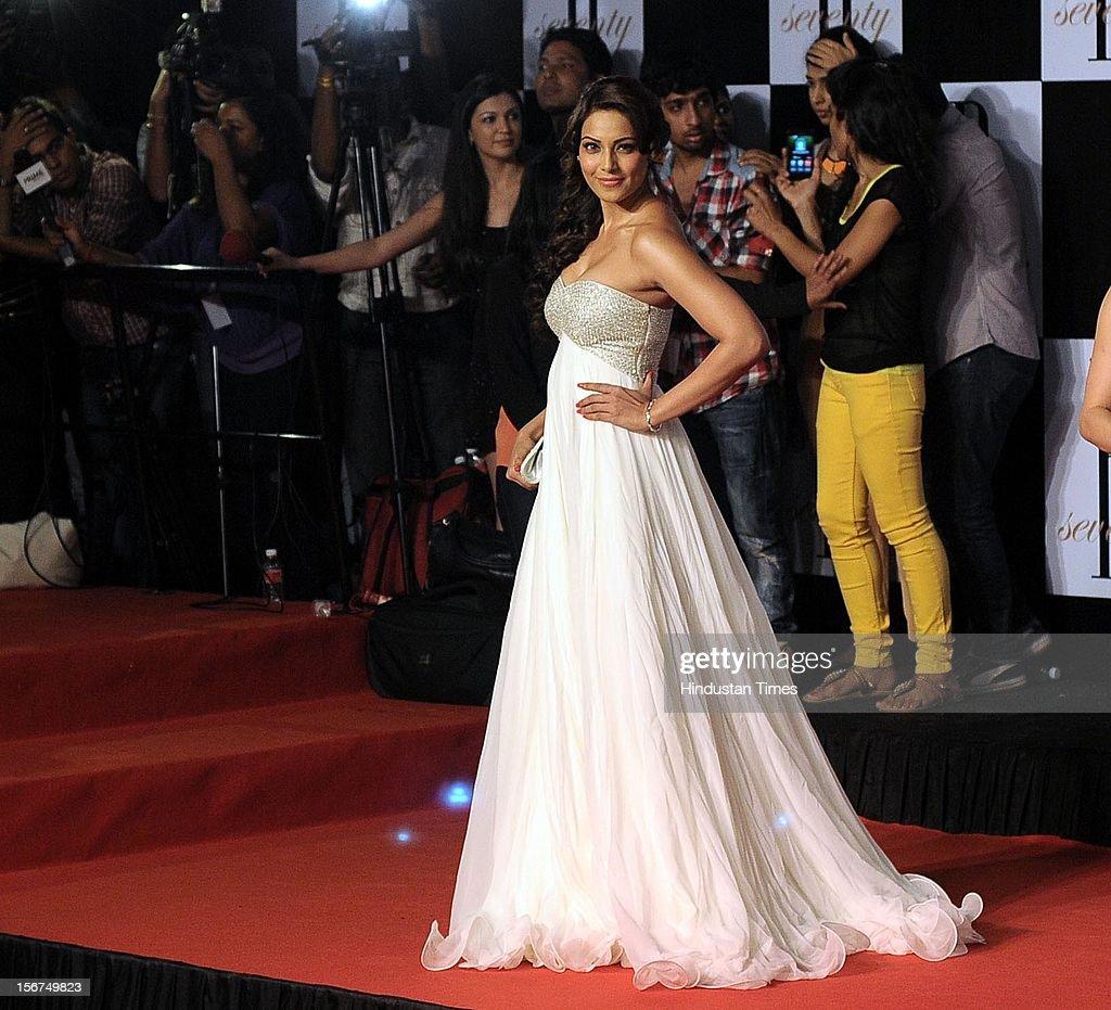 `MUMBAI INDIA OCTOBER 10 Actress Bipasha Basu during Amitabh Bachchan's 70th Birthday Party At Reliance Film City on October 10 2012 in Mumbai India `