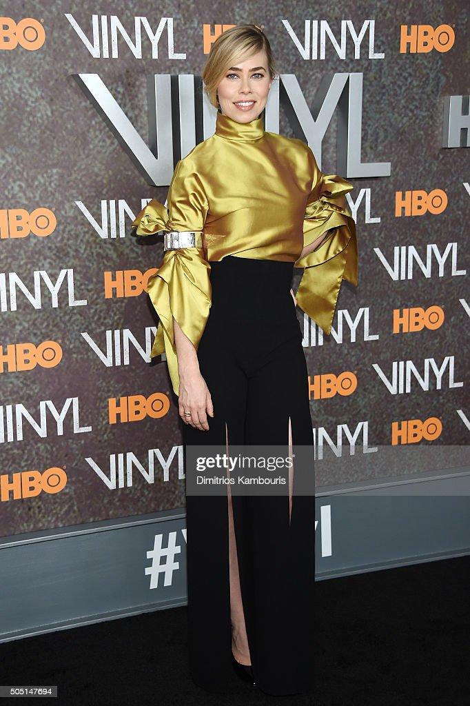 Actress Birgitte Hjort Sorensen attends the New York premiere of 'Vinyl' at Ziegfeld Theatre on January 15, 2016 in New York City.