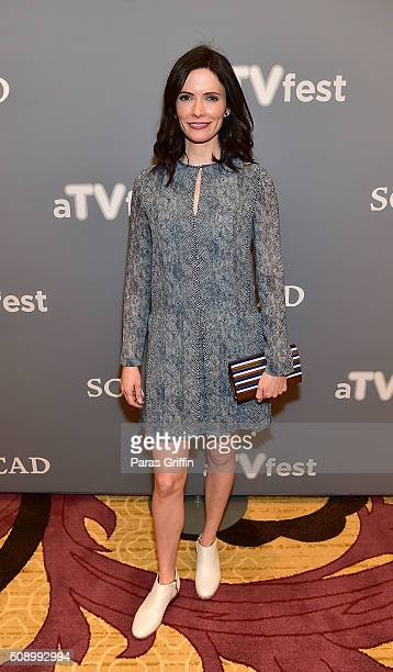Actress Bitsie Tulloch attends the 'Grimm' event during aTVfest 2016 presented by SCAD on February 7 2016 in Atlanta Georgia