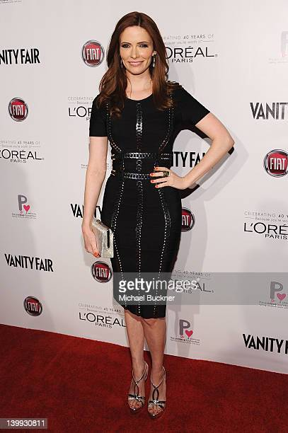 Actress Bitsie Tulloch attends Vanity Fair L'Oréal Paris Fiathosted DJ Night in support of The Pablove Foundation on Saturday on February 25 2012 in...