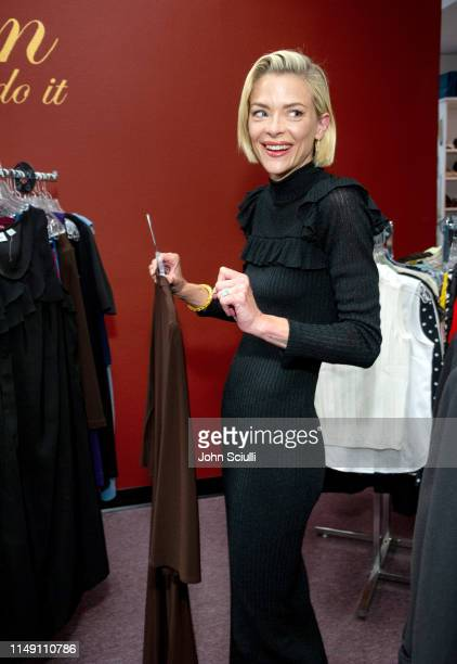 "Actress & ""Black Summer"" star Jaime King visits Dress for Success Worldwide West to donate a little black dress and charcoal toothpaste as part of..."