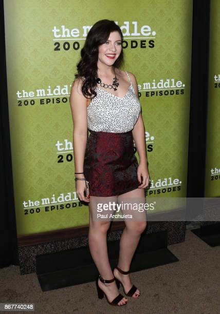 Actress Blaine Saunders attends ABC's The Middle 200th episodes celebration at the Fig Olive on October 28 2017 in West Hollywood California