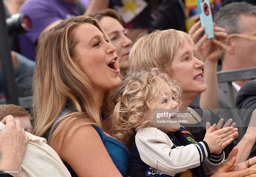 Actress Blake Lively and daughter James Reynolds attend the ceremony honoring Ryan Reynolds with a Star on the Hollywood Walk of Fame on December 15, 2016 in Hollywood, California.