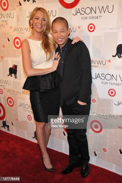 Actress Blake Lively and designer Jason Wu attend Jason Wu For Target Private Launch Event at Skylight SOHO on January 26 2012 in New York City