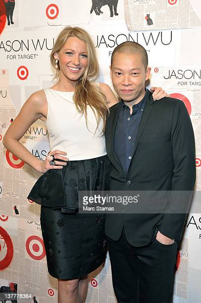 Actress Blake Lively and Designer Jason Wu attend the Jason Wu For Target launch at Skylight SOHO on January 26 2012 in New York City