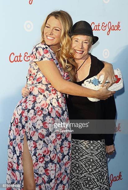 Actress Blake Lively and Tammy Reynolds attend the Target Launch of Cat and Jack brand at Brooklyn Bridge Park on July 21, 2016 in New York City.