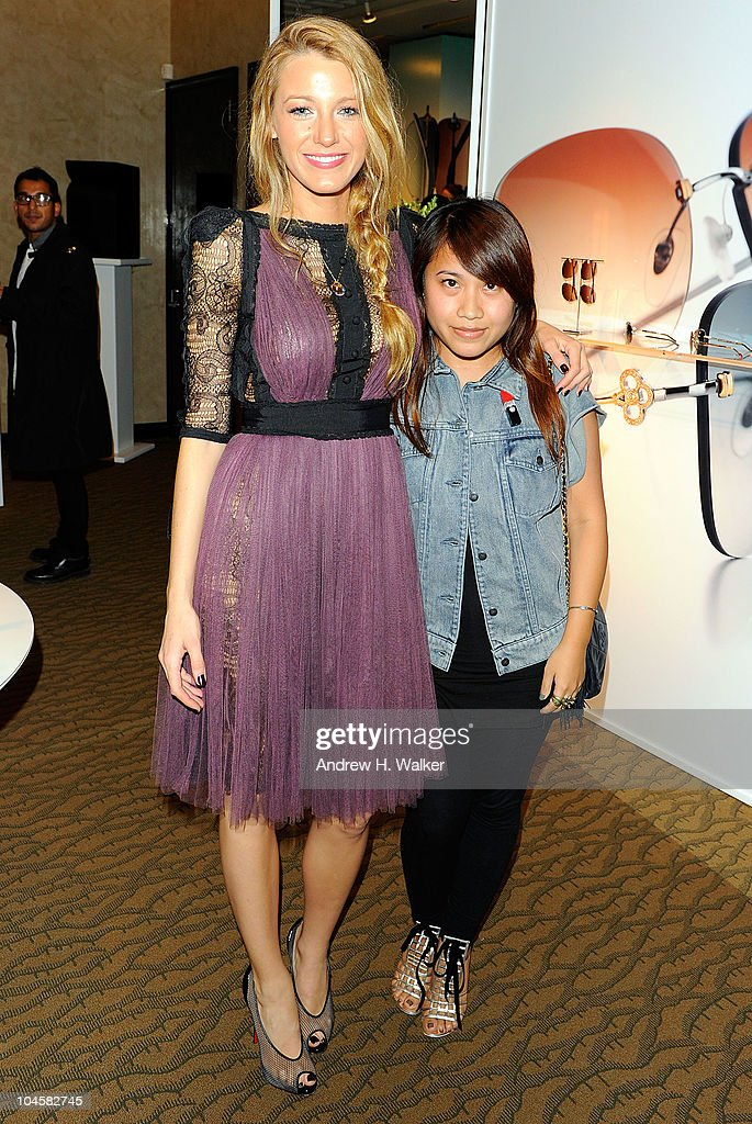 Actress Blake Lively and Wendy Lam attend the Spring 2011 Eyewear collection at Tiffany & Co. on September 30, 2010 in New York, City.