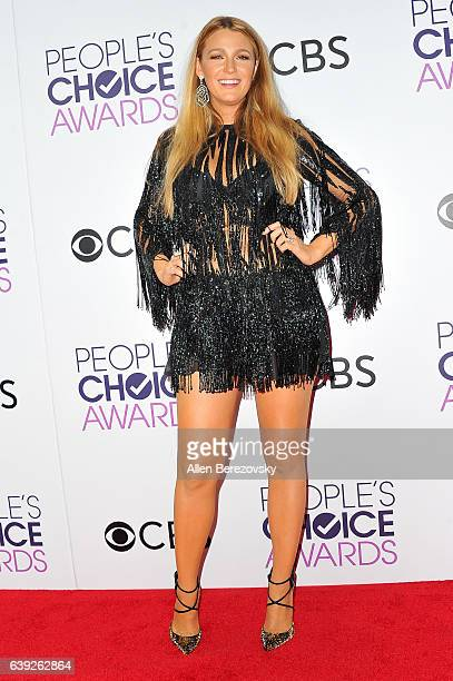 Actress Blake Lively arrives at People's Choice Awards 2017 at Microsoft Theater on January 18 2017 in Los Angeles California