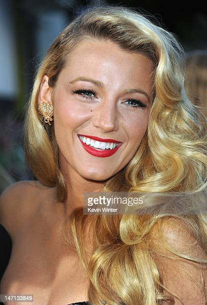 Actress Blake Lively arrives at Premiere of Universal Pictures' 'Savages' at Westwood Village on June 25 2012 in Los Angeles California