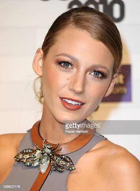 Actress Blake Lively arrives at Spike TV's 'Scream 2010' at The Greek Theatre on October 16 2010 in Los Angeles California