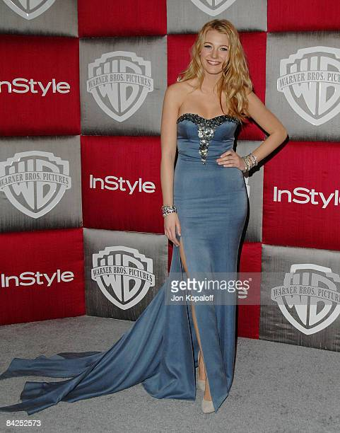 Actress Blake Lively arrives at the 66th Annual Golden Globe Awards InStyle Warner Bros Official After Party at the Oasis Court at The Beverly Hilton...