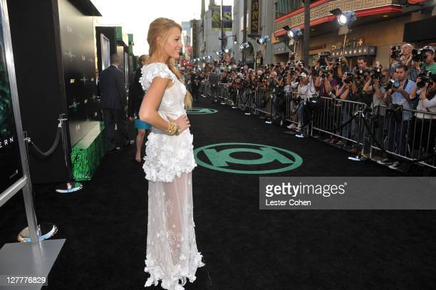 Actress Blake Lively arrives at the Green Lantern Los Angeles Premiere held at at Grauman's Chinese Theatre on June 15 2011 in Hollywood California