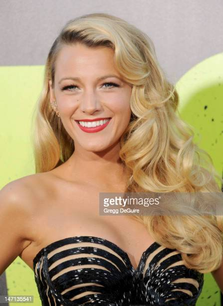 Actress Blake Lively arrives at the Los Angeles premiere of 'Savages' at Mann Village Theatre on June 25 2012 in Westwood California
