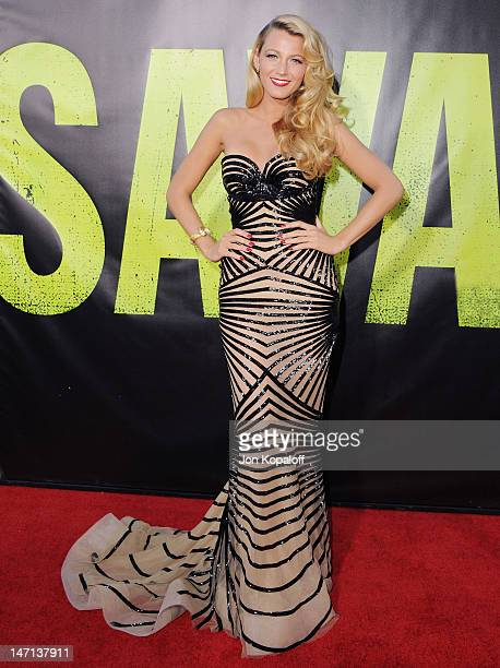 "Actress Blake Lively arrives at the Los Angeles Premiere ""Savages"" at Mann Village Theatre on June 25, 2012 in Westwood, California."