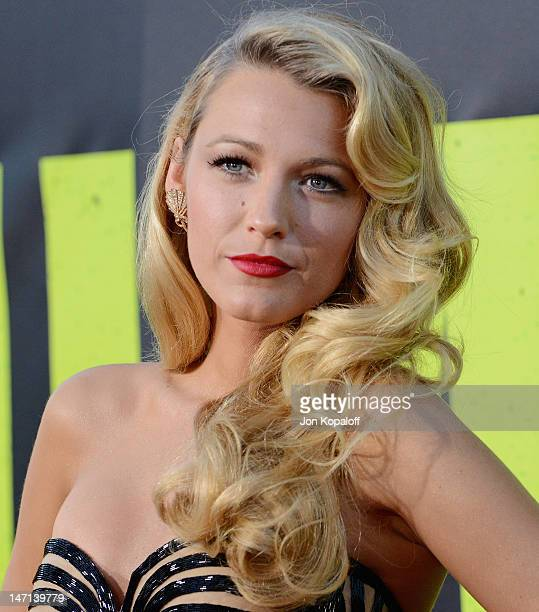 """Actress Blake Lively arrives at the Los Angeles Premiere """"Savages"""" at Mann Village Theatre on June 25, 2012 in Westwood, California."""