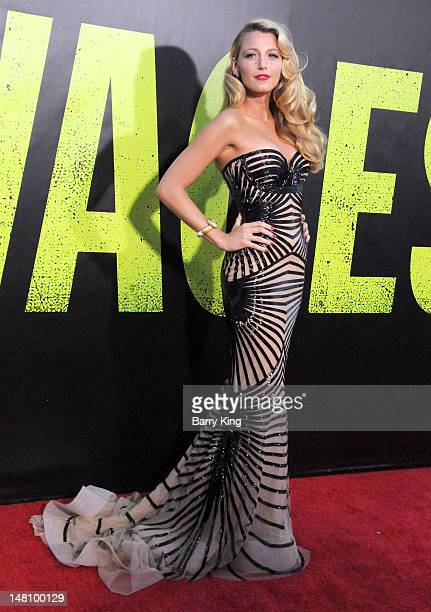 Actress Blake Lively arrives at the Los Angeles Premiere 'Savages' at Mann Village Theatre on June 25, 2012 in Westwood, California.