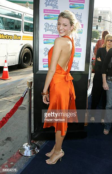 Actress Blake Lively arrives at the premiere of The Sisterhood of the Traveling Pants at The Grauman's Chinese Theatre on May 31 2005 in Hollywood...