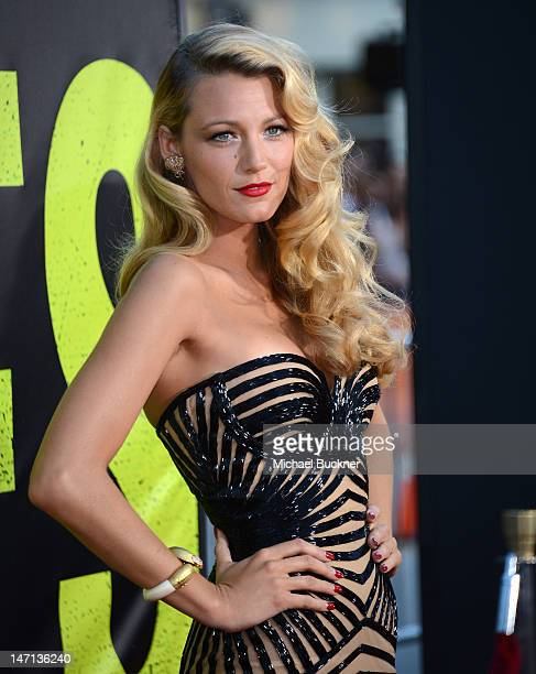 Actress Blake Lively arrives at the premiere of Universal Pictures' 'Savages' at Westwood Village on June 25 2012 in Los Angeles California