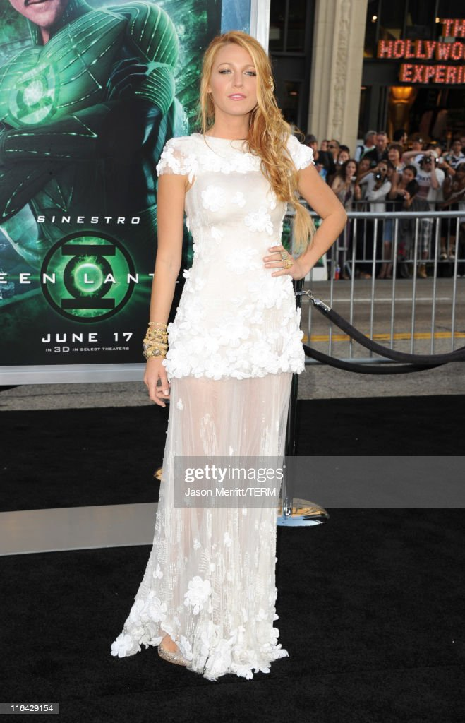 Actress Blake Lively arrives at the premiere of Warner Bros. Pictures' 'Green Lantern' held at Grauman's Chinese Theatre on June 15, 2011 in Hollywood, California.