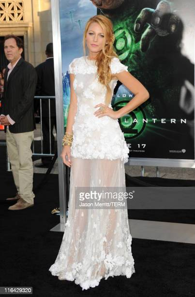 Actress Blake Lively arrives at the premiere of Warner Bros Pictures' Green Lantern held at Grauman's Chinese Theatre on June 15 2011 in Hollywood...