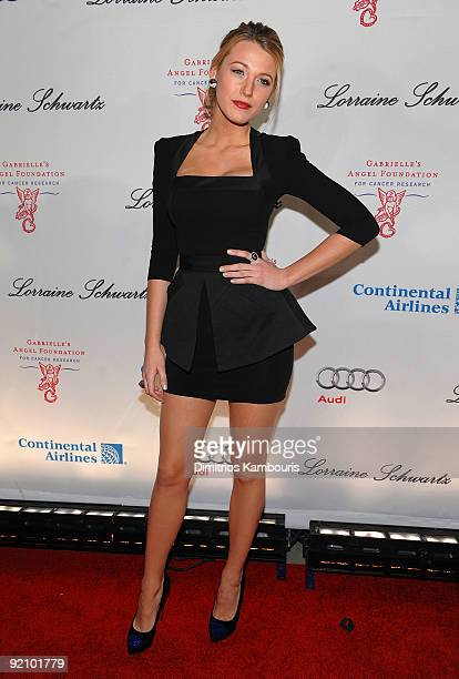 Actress Blake Lively attends 2009 Angel Ball to Benefit Gabrielle�s Angel Foundation hosted by Denise Rich at Cipriani Wall Street on October 20 2009...