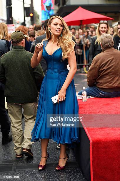 Actress Blake Lively attends a ceremony honoring Ryan Reynolds with a star on the Hollywood Walk of Fame on December 15 2016 in Hollywood California