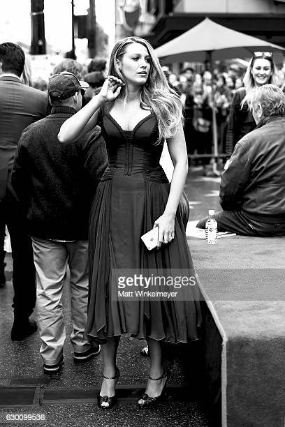 Actress Blake Lively attends a ceremony honoring Ryan Reynolds with star on the Hollywood Walk of Fame on December 15 2016 in Hollywood California