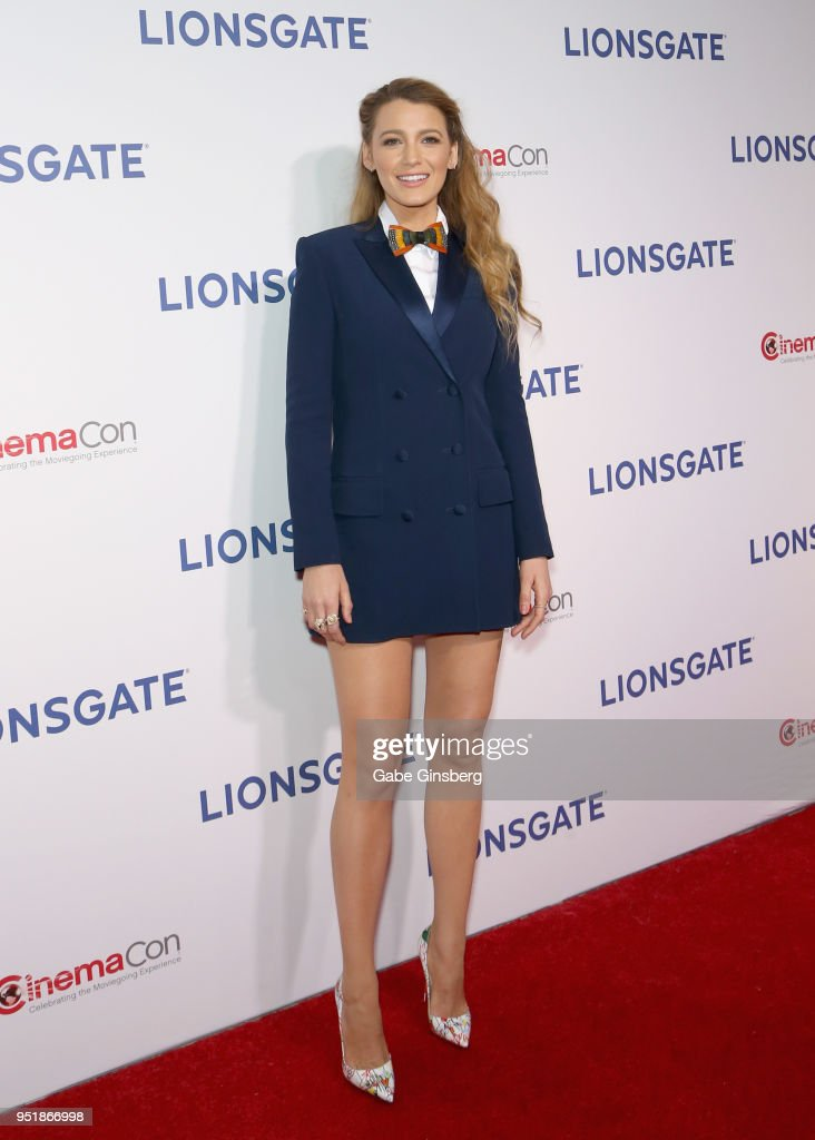 Actress Blake Lively attends CinemaCon 2018 Lionsgate Invites You to An Exclusive Presentation Highlighting Its 2018 Summer and Beyond at The Colosseum at Caesars Palace during CinemaCon, the official convention of the National Association of Theatre Owners, on April 26, 2018 in Las Vegas, Nevada.