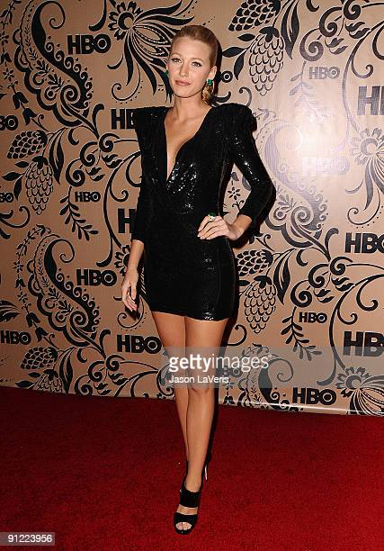 Actress Blake Lively attends HBO's post Emmy Awards reception at Pacific Design Center on September 20 2009 in West Hollywood California