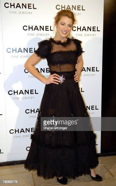 """Actress Blake Lively attends """"Night Of Diamonds"""" hosted by Chanel Fine Jewelry on January 16, 2008 in New York City, New York."""