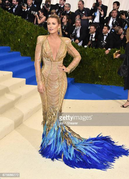 Actress Blake Lively attends Rei Kawakubo/Comme des Garcons Art Of The InBetween Costume Institute Gala at Metropolitan Museum of Art on May 1 2017...