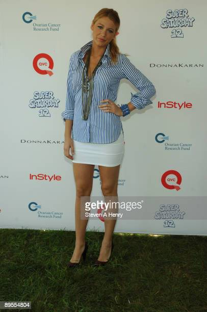 Actress Blake Lively attends Super Saturday 12 to Benefit Ovarian Cancer Research Fund hosted by InStyle Magazine on August 1 2009 in Watermill New...