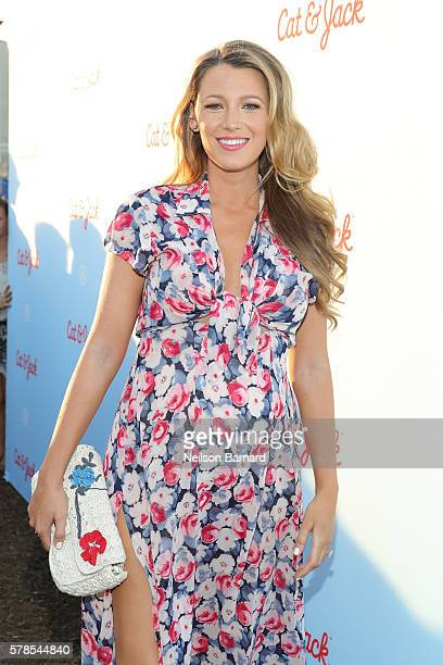 Actress Blake Lively attends Target Cat Jack Launch Celebration at Pier 6 at Brooklyn Bridge Park on July 21 2016 in Brooklyn Borough of New York City