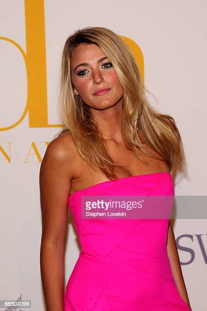 Actress Blake Lively attends the 2009 CFDA Fashion Awards at Alice Tully Hall Lincoln Center on June 15 2009 in New York City