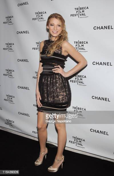 Actress Blake Lively attends the 3rd Annual Chanel Dinner Party on April 28 2008 at AGO at the Greenwich Hotel in New York City