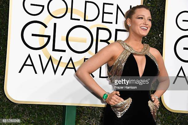 Actress Blake Lively attends the 74th Annual Golden Globe Awards at The Beverly Hilton Hotel on January 8 2017 in Beverly Hills California