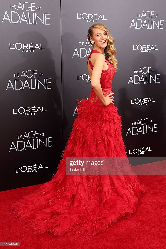 Actress Blake Lively attends 'The Age of Adaline' premiere at AMC Loews Lincoln Square 13 theater on April 19, 2015 in New York City.