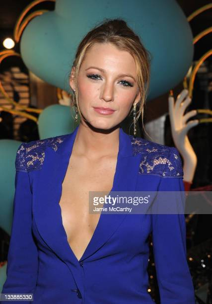 Actress Blake Lively attends the Barneys New York Celebration Launch of Gaga's Workshop at Barneys New York on November 21 2011 in New York City