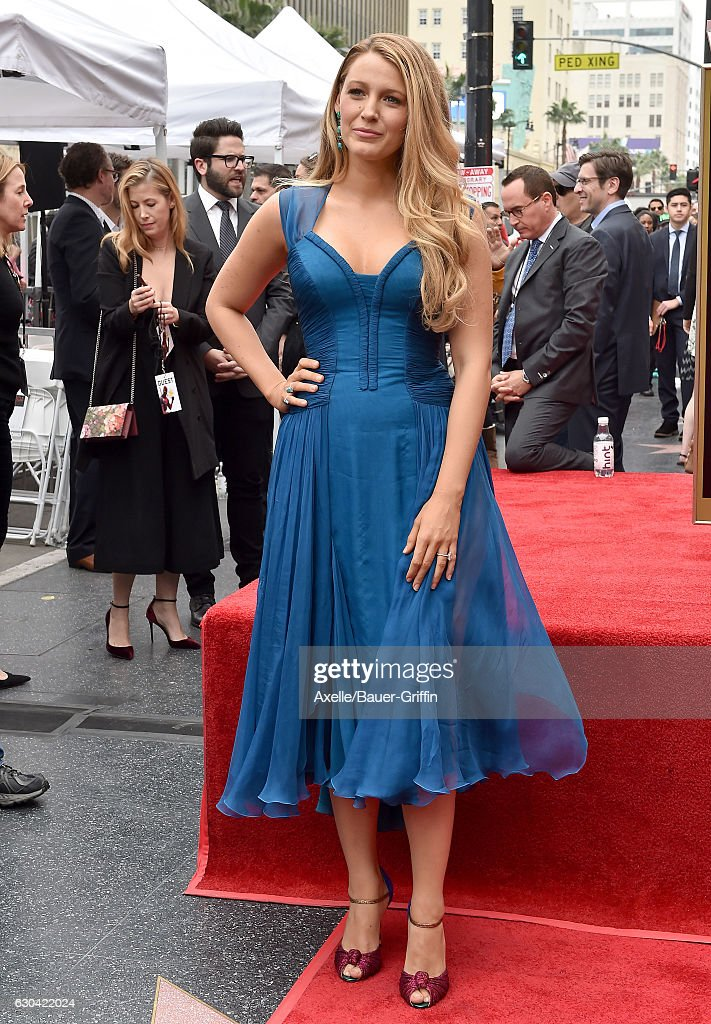 Actress Blake Lively attends the ceremony honoring Ryan Reynolds with a Star on the Hollywood Walk of Fame on December 15, 2016 in Hollywood, California.